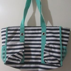 Thirty One Zip-Top Organizing Utility Tote in Navy